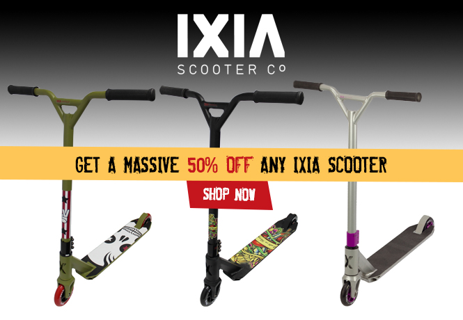 50% Off All IXIA Scooters
